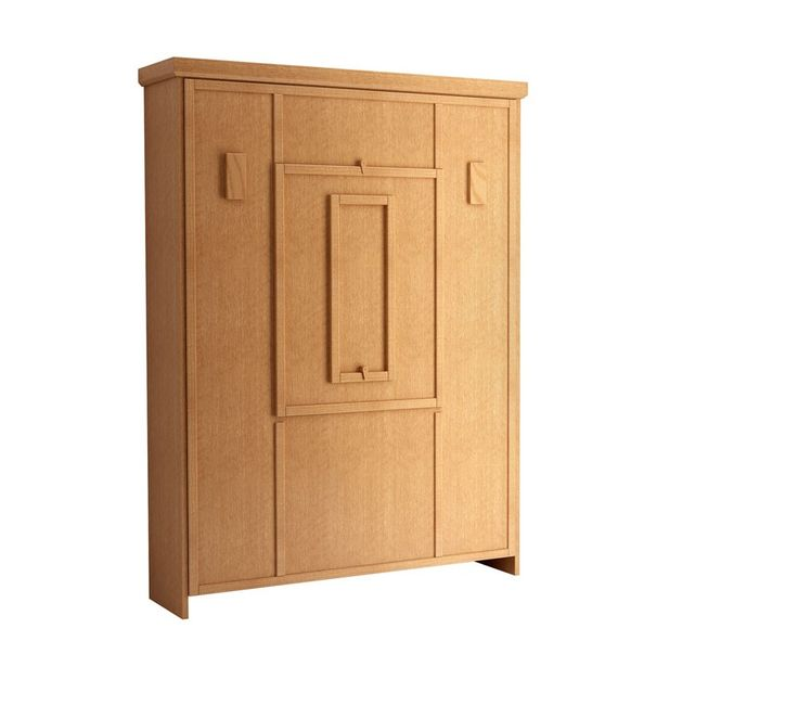 The Elsa Drop Down Table Murphy Bed in Oak Honey Finish
