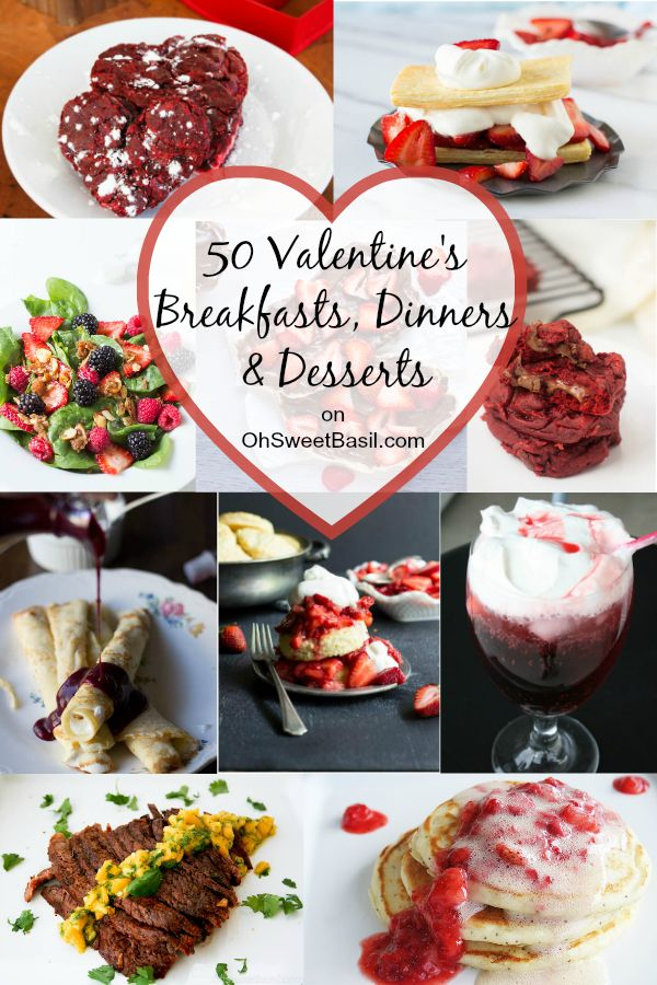 50 valentine 39 s breakfasts dinners and desserts for Valentine dinner recipes kids