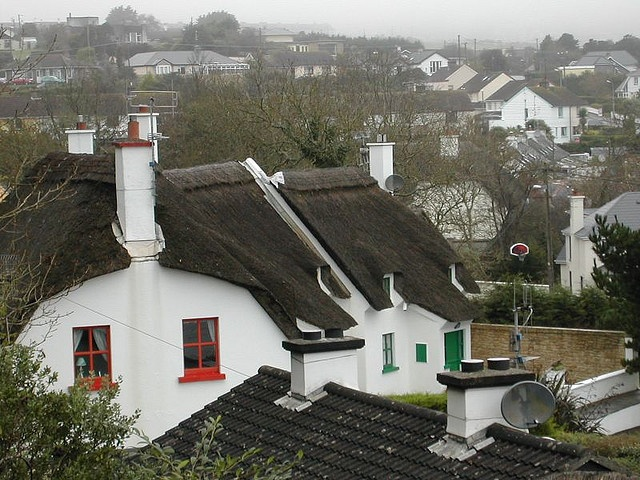 Thatched Cottages, Dunmore East, #Waterford #Ireland October