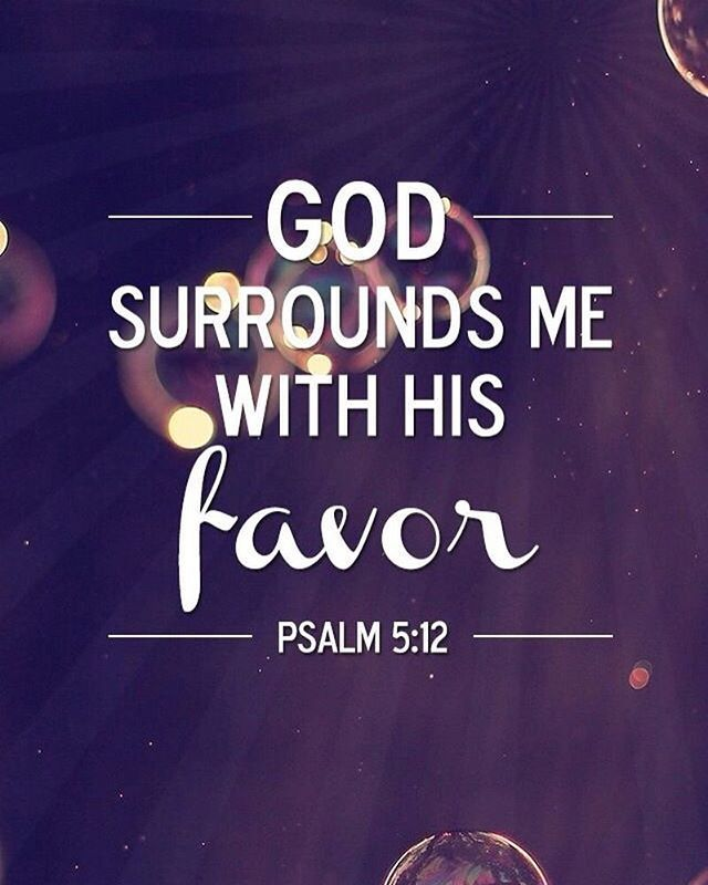"""Surely, Lord, you bless the righteous; you surround them with your favor as with a shield."" ‭‭Psalm‬ ‭5:12‬ ‭NIV‬‬"