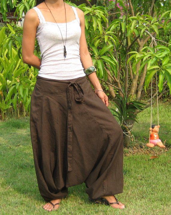 Cotton Harem Pants Sarouel Pantaloni Harem di BillysThaiShop