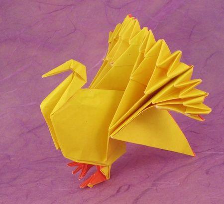 Origami Turkey by Jun Maekawa folded by Gilad Aharoni