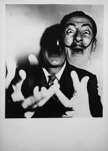 """Salvador Dali by Weegee (Arthur Fellig). """"When I paint, the ocean roars. Others merely paddle in their bath."""""""
