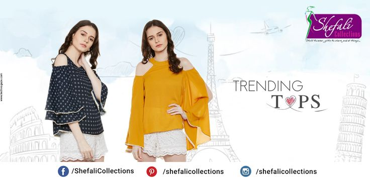 Trending Tops !! Buy Your Favourite Dress Now- Call @ 9993339994 #ShefaliCollections #Clothes #Fashion #Brand #Style #Dresses #WesternWear #Kurtas #Tops #Jeans #Suits
