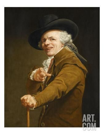 Portrait of the Artist in the Guise of a Mockingbird Giclee Print by Joseph Ducreux at Art.com