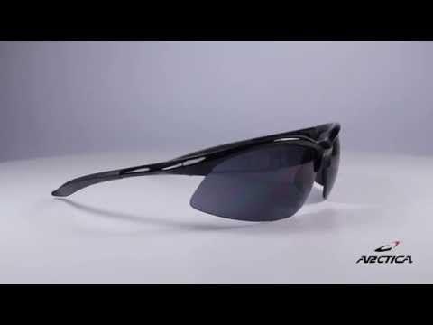 Arctica S190 B napszemüveg. A cserélhető lencsék egyike világos sárga színű és a nagyon gyenge napsugárzás ellen védi a szemet. A másik egy szürke színű, amelyet erősebb napsugárzás esetén ajánlott viselni. A modell unisex, mindkét nemnek jól áll. OLVASS TOVÁBB!