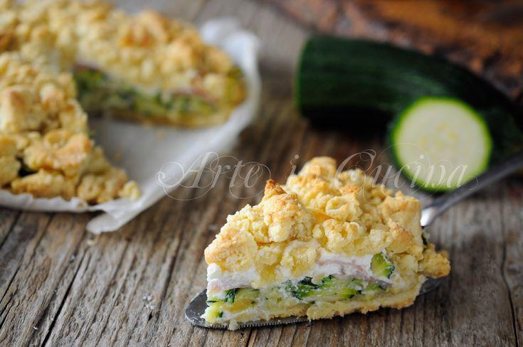 Sbriciolata zucchine ricotta e prosciutto veloce vickyart arte in cucina