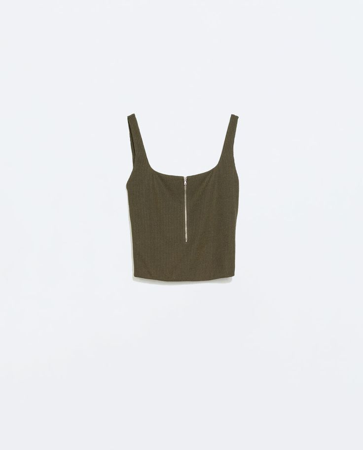Image 5 of CROP TOP WITH A FRONT ZIP from Zara