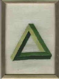 Driehoeks- compositie: De verschillende elementen van de compositie zijn zo neergezet dat er een driehoek ontstaat.