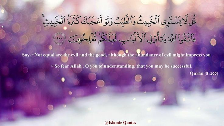 Surat Al-Ma'idah : 100 #Quran
