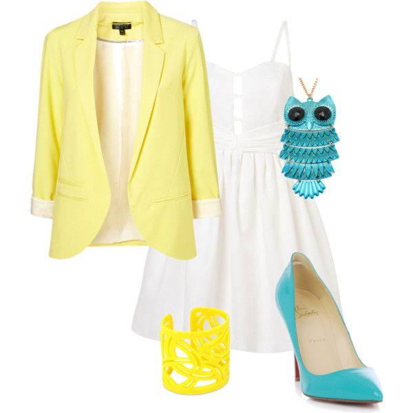 """""""MellowYellow"""" by danicashea on Polyvore: Turquoi Outfits, Fashion Outfits, Turquoise Outfits, Outfits Ideas"""