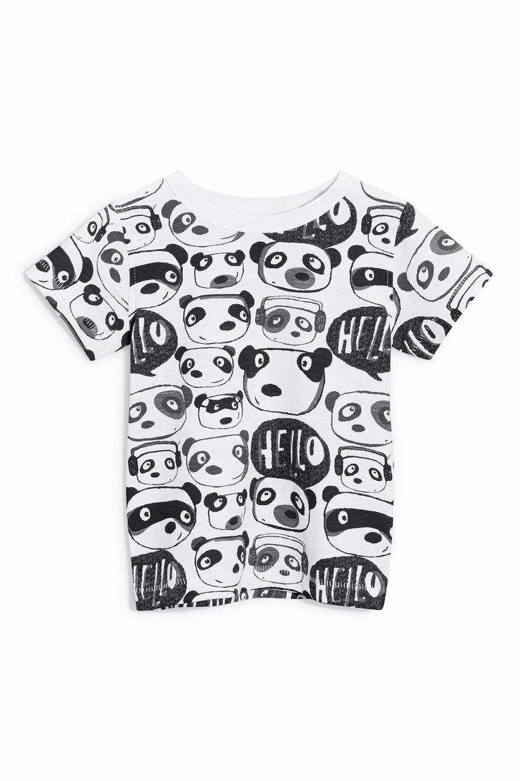 Design t shirt online uk - Buy Panda All Over Print T Shirt 3mths 6yrs From The Next Baby Printsprints Onlineuk
