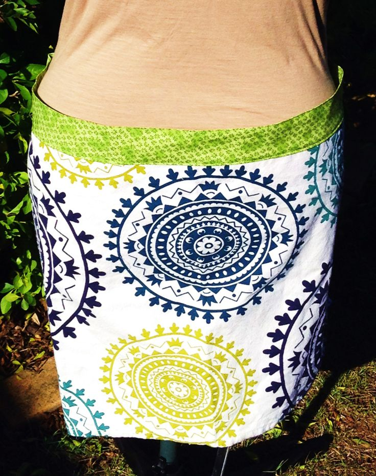 Tea Towel Half Apron with side ties made from a whole tea towel