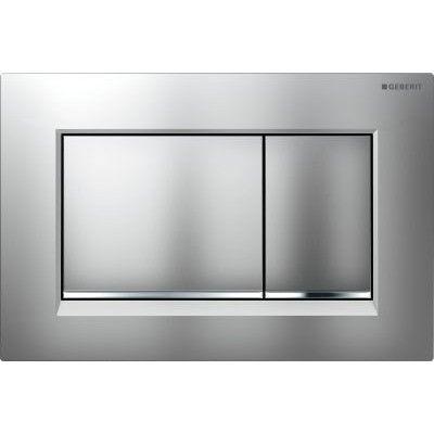 Geberit Sigma 30 Bedieningsplaat kleuren: plaat-ring-knop Matchroom-chroom-matchr. 115883KN1 Productafbeelding