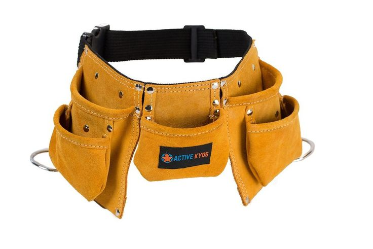 Active Kyds Leather Kids Tool Belt / Child's Tool Pouch for Costumes Dress Up... #ActiveKyds