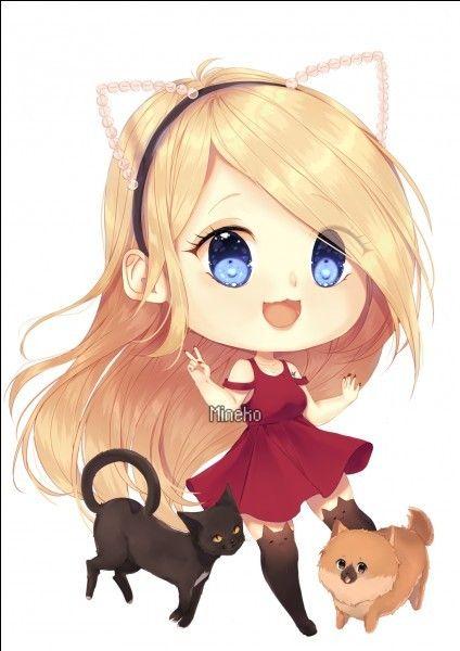 R sultat de recherche d 39 images pour devovo devovo - Fille manga chat ...