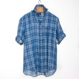 Franco Montanelli's Short Sleeves Linen Shirts - Made in Italy