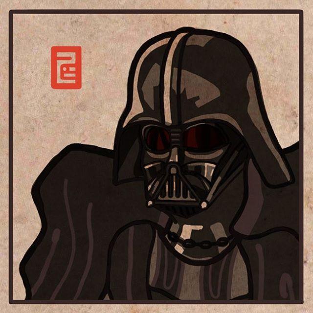 Do you know him?  More at :  https://instagram.com/7b.hyeon/ http://7b-hyeon.tumblr.com/  Find : #starwars #darthvader #스타워즈 #더포스어워드 #illustration #artwork #スターウォーズ #イラスト #ダースベイダー #darthvader #I #am #your #father #7bhyeon