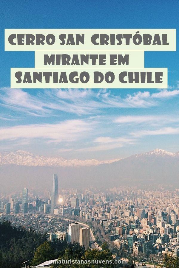 Cerro San Cristóbal em Santiago do Chile. Trata-se de um dos mirantes mais famosos da cidade.