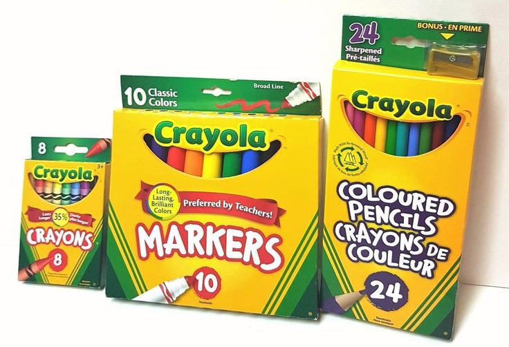 Lot of 3 Crayola Kids  Writing/Colouring Instruments - Crayons, Markers, Pencils | eBay
