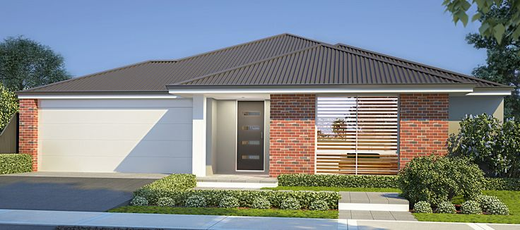 39 the imperial 39 elevation 15m frontage feature face brick for Face brick homes