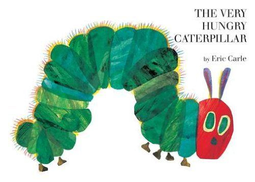 The Very Hungry Caterpillar board book by Eric Carle, http://www.amazon.ca/dp/0399226907/ref=cm_sw_r_pi_dp_oxzyrb1M6W3KM