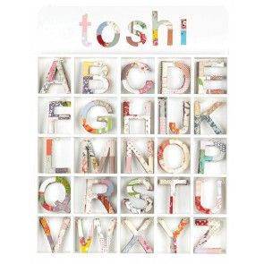 Toshi Alphabet Rose