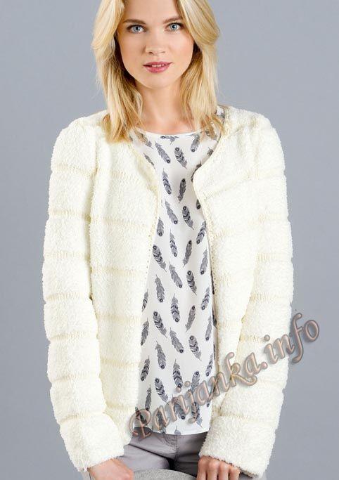 Куртка (ж) 12*128 Phildar №4936