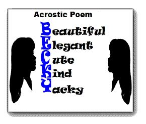 9 best images about acrostic poetry on Pinterest | Grade 2 ...