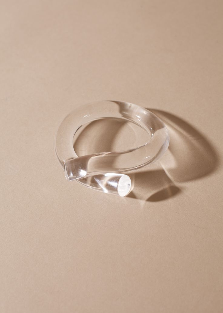 Corey Moranis Thick Rod Bangle - Clear click through to get $20 off at Garmentory
