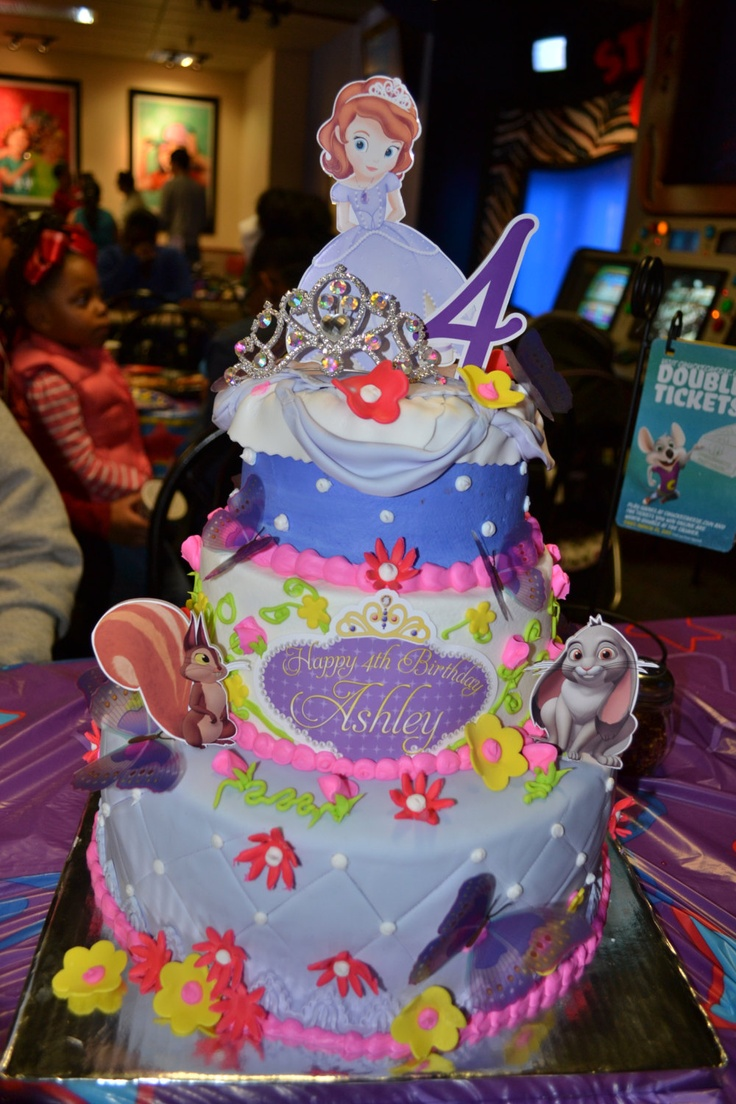 Princess Sofia the First Birthday Number PERSONALIZED cake topper or ANY character. $10.00, via Etsy.