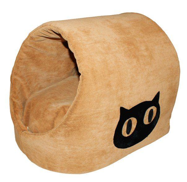 """Флоковая Лежанка """"Домик"""" для котика с апликацией. В комплекте мягкий съемный матрасик. Цена: 1 350 руб. #Вигвам, #Гамак, #Зоотовары, #Лежанки, #матрас, #кошки, #собаки, #питер #zoo #cat #dog #piter #rus #mimimi #house #spb"""