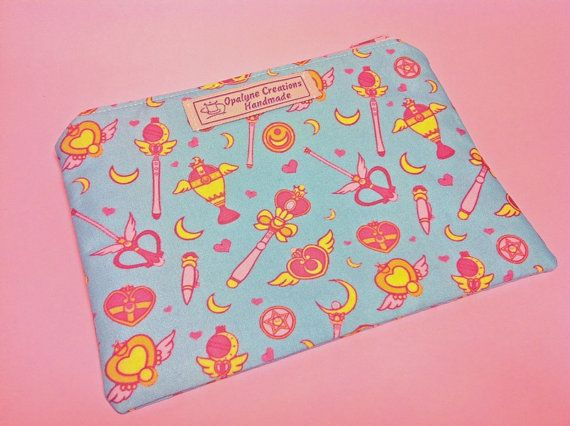Clutch Bag Sailor Moon print. Cosmetic bag.