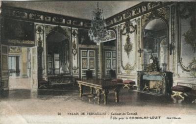 Chocolat-Louit Postcard - 20, Palais de Versailles, Cabinet du Conseil