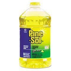 All-Purpose Cleaner, Lemon Scent, 144 oz. Bottle by Pine-Sol. $14.82. Powerful formula makes up to 72 gallons per bottle. Cleans, deodorizes and shines hard, nonporous surfaces: no-wax floors, tiles, walls, sinks, countertops, microwaves, refrigerators, stoves, range hoods, deep fryers and more. Ideal for food-service or industrial environments. Fresh fragrance. Application: Countertops; Deep Fryers; Microwaves; Nonporous Surfaces; Range Hoods; Refrigerators; Skins; Stov...
