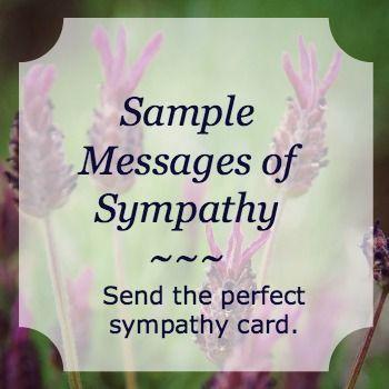 Sample Messages of Sympathy - Simple Sympathy   Sympathy ...