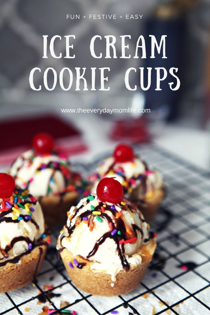 Ice Cream Cookie Cups are perfect for any party - including holiday parties! Make these easy and tasty cups with Pillsbury Sugar Cookies dough and delight your kids and guests. @Pillsbury #ItsBakingSeason #ad
