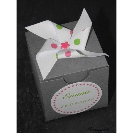Boîte à dragées Moulin à vent thème candy bar