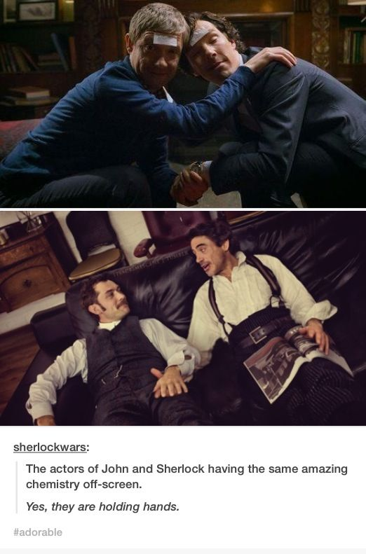 Sherlock/Watson is the best bromance no matter who is playing them.
