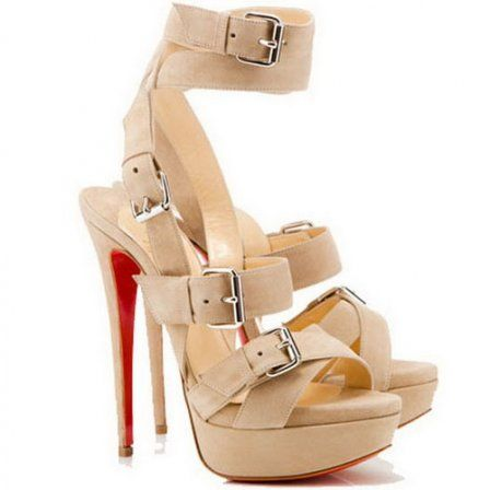 christian louboutin toutenkaboucle 150 suede buckle sandals