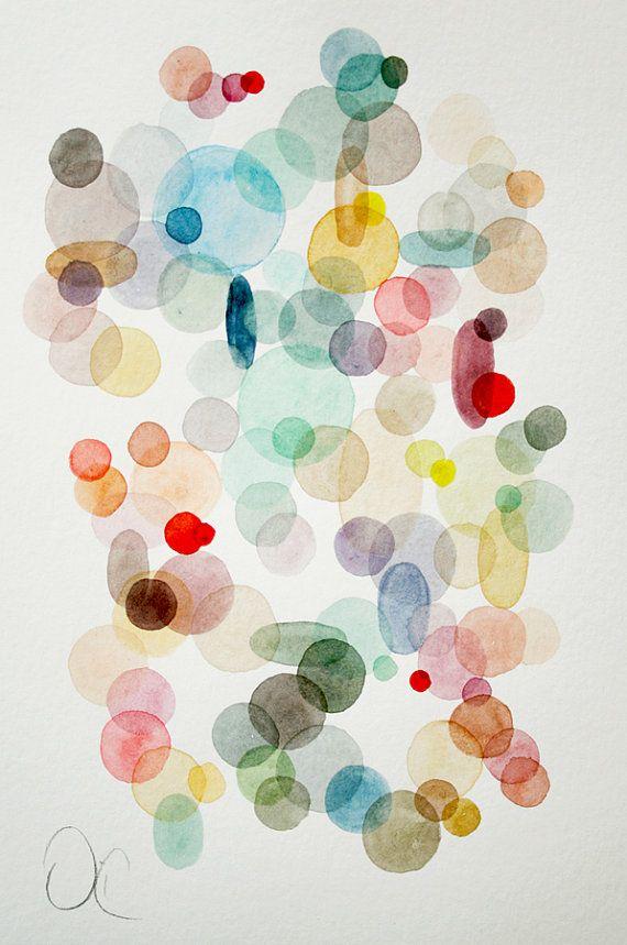 Contemporary Modern Art  an Original Abstract por VictoriAtelier, $80.00