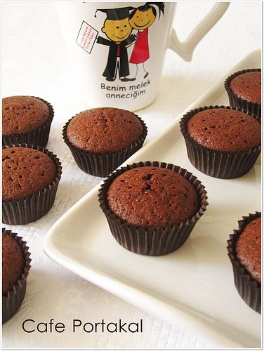 CAFE PORTAKAL: Kakaolu Mini Cupcake
