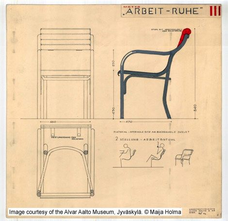 Drawing For Chairs Arbeit Ruhe Aaltos Entry Thonet Mundus Furniture Design