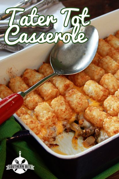 Tater Tot Casserole - Super easy and super delicious.  The ultimate comfort food!
