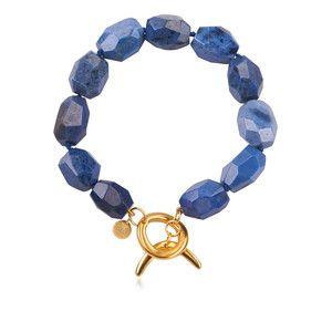 Azure Blue Half Moon Bracelet http://bit.ly/moonzz