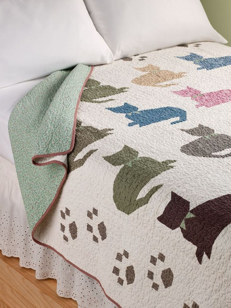 Vermont Country Store - Calico Kitty Quilt xxx