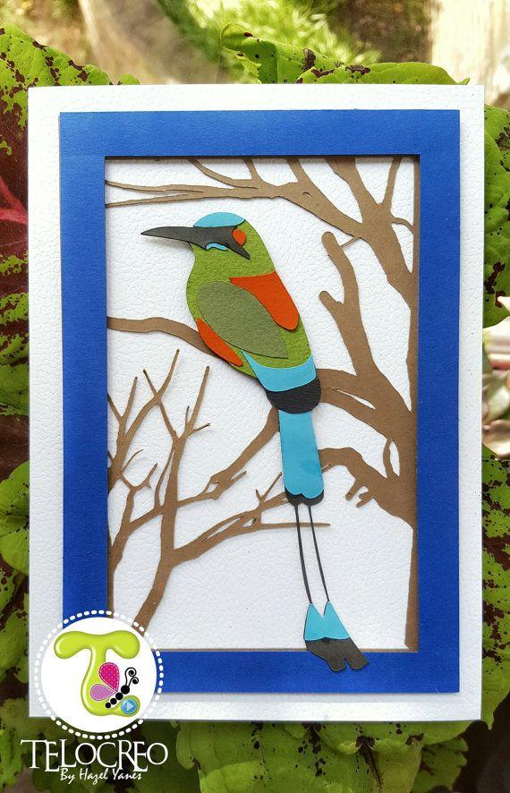 Mira este artículo en mi tienda de Etsy: https://www.etsy.com/es/listing/492089712/handmade-torogoz-card