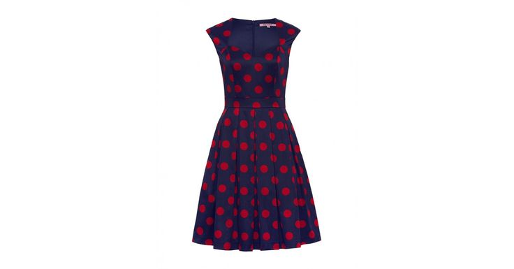 Love letters from Paris Campaign | Lady Bug Spot Dress Navy/Red