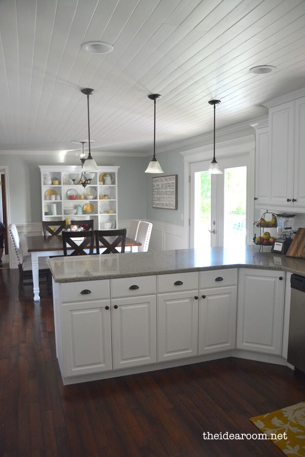 Love this flooring and kitchen/dining area combo
