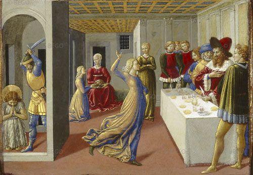 Benozzo Gozzoli - Banchetto di Erode - tempera su tavola - 1461-62 - National Gallery of Art, Washington.